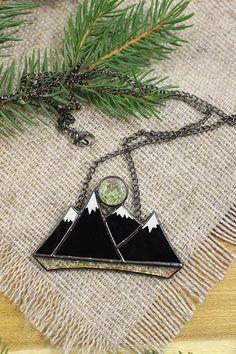 Snowy Mountain Top Snowy Mountain Necklace Mountain necklace