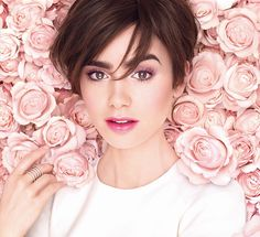 Lily Collins for Lancôme Aboslutely Rôse.
