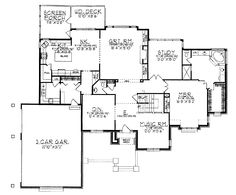 Home Plans HOMEPW01357 - 3,468 Square Feet, 4 Bedroom 3 Bathroom French Country Home with 3 Garage Bays