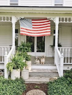 Happy Memorial Day From White Cottage Farm Funky Painted Furniture, Painted Chairs, Painted Doors, Painted Tables, Memorial Day Holiday, Happy Memorial Day, Farmhouse Style, Farmhouse Decor, Farmhouse Plans