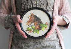 Vintage embroidered horse