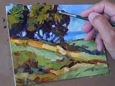 "Inspiring landscape technique. Very fresh and quick. ""Tom Brown Paints A Landscape"""