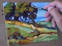 "Inspiring landscape technique. Very fresh and quick. ""Tom Brown Paints A Landscape"""