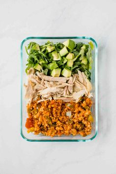 for a quick and easy lunch idea? These Low-Carb Mexican Meal Prep Bowls are perfect for taking with you on-the-go! Low-carb, high-protein, gluten-free, and delicious. Lunch Meal Prep, Meal Prep Bowls, Easy Meal Prep, Healthy Meal Prep, Easy Meals, Healthy Eating, Healthy Dinners, Clean Eating, Dinner Meal