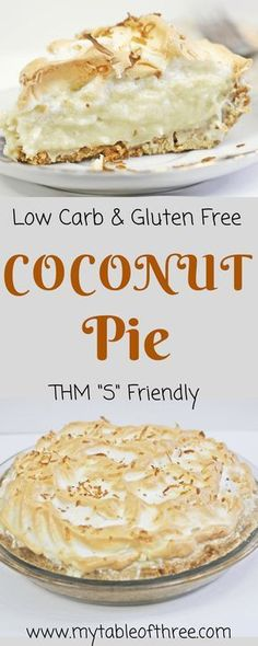 Low Carb Coconut Cream Pie || Sugar Free, Gluten Free, Trim Healthy Mama, Low Carb, Keto Friendly