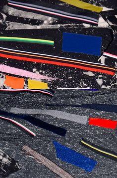 Sterling Ruby x Raf Simons fw 2014 detail Textiles, Textile Prints, Textile Patterns, Color Patterns, Print Patterns, Op Art, Glitch, Raf Simmons, Pattern Design
