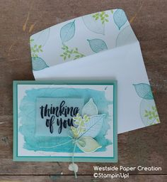 Day 5 of The Creative Way brings together a fun watercolor background and the Rooted In Nature Stamp Set! Day 5 of The Creative Way brings together a fun watercolor background and the Rooted In Nature Stamp Set! Nature Paper, Watercolor Cards, Watercolor Background, Karten Diy, Leaf Cards, Fall Cards, Scrapbook Cards, Scrapbooking, Stampin Up Cards