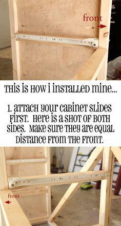 ~~pinned from site directly~~ . . .  how to install drawer slides