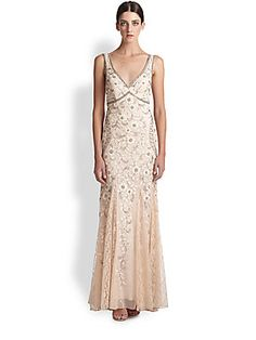 Sue Wong Beaded & Floral Embroidered Tulle Gown.  I'd probablyt divorce my husband, then remarry him, if it gave me a reason to wear this dress.