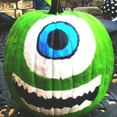 Mike Wizowski pumpkin! #DIY #wanttodo
