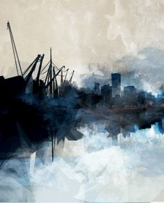 """// seifersucht - lorelei L'affeter - wall cover for """"les bassins du havre"""" Art Boards, Abstract, Art Work, Pictures, Painting, Cover, Wall, Ideas, Summary"""