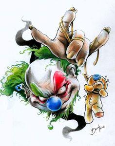 clown knows hurt by BrunofPaiva on DeviantArt