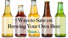 """7 Ways to Save on Brewing Your Own Beer  www.LiquorList.com  """"The Marketplace for Adults with Taste"""" @LiquorListcom   #LiquorList"""