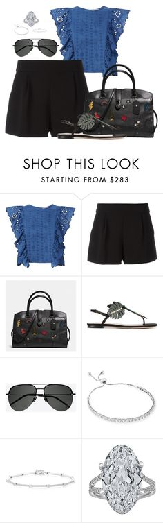 """""""Untitled #2714"""" by moxfordf on Polyvore featuring Sea, New York, Boutique Moschino, Coach, Valentino, Yves Saint Laurent and Anne Sisteron"""