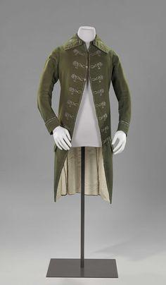1785-1789, the Netherlands - Coat - Wool, silk, linen, silver thread