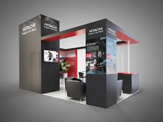 Colour render for Hitachi exhibition stand.