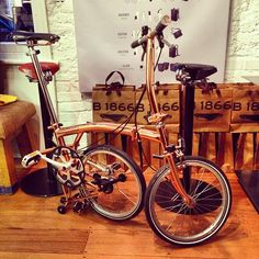 the one of only 10 made Copper plated Brompton