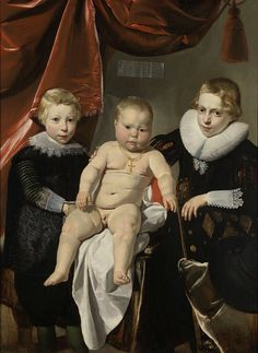 Thomas de Keyser, Three brothers, named Hendrick, Johannes and Simon, ca. 1627 -1632, Rijksmuseum Amsterdam