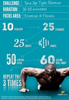 Quick full body #workout. Do these 6 #exercises for the specified number of reps. Repeat for a total of 3x