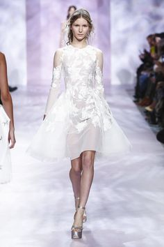 Georges Chakra Couture Spring Summer 2017 Paris...Pretty fabric for a simple silhouette. Stay within the budget.