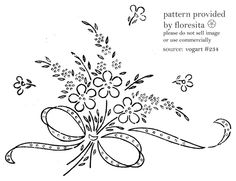 Embroidery Pattern of Pretty simple floral block design. jwt