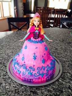 Frozen- Anna birthday cake- made for Sophia's birthday!!
