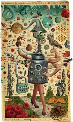 Michael Waraksa - Sifted in the Annexed Scheme - Digital Collage
