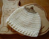 Items similar to Crochet baby boobie hat. cream with light brown. made in Ireland. on Etsy Breastfeeding In Public, Breastfeeding Support, Cream Hats, Baby Warmer, Cool Hats, Snug, Crochet Baby, Ireland, Brown