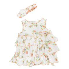 Guess Infant Girl Floral Tiered Dress Set #VonMaur