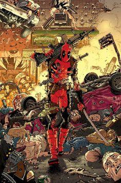 """bear1na: """"Deadpool #7 by Tony Moore * """""""