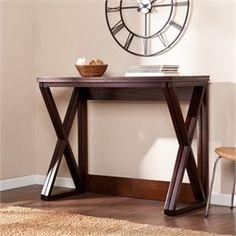 Luxury Espresso Hall Table