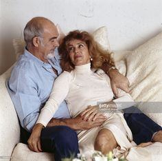 sean connery and wife micheline roquebrune 1975 Famous Couples, Famous Men, Famous Faces, Scottish Actors, British Actors, Sean Connery, James Bond, Hollywood Men, Oscar Winners