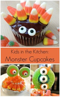 Monster Cupcakes Kid Activity. Fun for Halloween or any time of year! - The Jenny Evolution