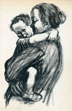 Mother with Child - Kathe Kollwitz - WikiPaintings.org