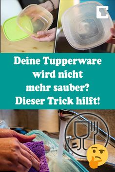p/deine-tupperware-wird-nicht-mehr-sauber-dieser-trick-hilft delivers online tools that help you to stay in control of your personal information and protect your online privacy. Tupperware, Tip Jars, Apple Recipes, Good Advice, Vitamin E, Hand Sanitizer, Diy Beauty, Life Hacks, Cleaning