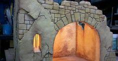 Istillarty Creations: How to make a Bethlehem Portal - Oscar Wallin Christmas Nativity Scene, Christmas Bows, Christmas Makes, Christmas Villages, Christmas Projects, Christmas Program, Christmas Decorations, Christmas Holidays, Model Castle