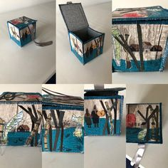 Memory Collage box reminding me of the summer in Finland