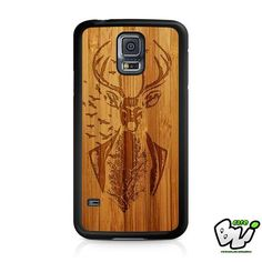 Deer Wood Design Samsung Galaxy S5 Case
