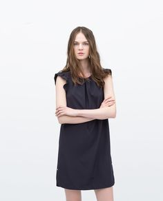 """Image 1 of DRESS WITH FRILLY SLEEVES from Zara - thought this was quite simple and understated but could easily be dressed up for the parties you have with big earrings and some heals... careful with sizing as it says it is """"loose shape"""""""