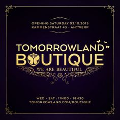 Tomorrowland Boutique opent shop in Antwerpen