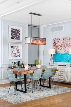 Matching Hues - A Case For Rugs Under The Dining Room Table - Photos