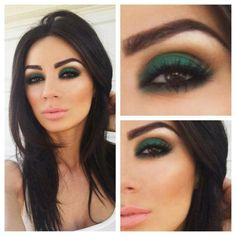 Top 10 Colors For Brown Eyes Makeup. love this green color. - looks s bit extreme, but pretty for the right party or concert