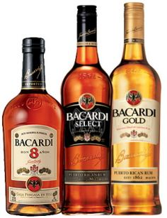 Bacardi Gold, Select and 8 Years Rum Bar Drinks, Alcoholic Drinks, Beverage, Puerto Rico, Peach Drinks, Good Rum, Spirit Drink, Fine Wine And Spirits, Bacardi Rum