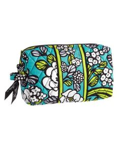Vera Bradley makeup bag.  The only makeup bag I will every buy.  Simple, practical, good size, washable.