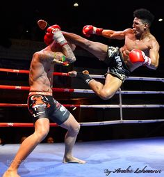 Two Muay Thai boxers compete on the ring. Martial Arts Styles, Martial Arts Techniques, Mixed Martial Arts, Krav Maga, Fighting Poses, Mma Fighting, Fighter Workout, Muay Thai Martial Arts, Thai Boxe