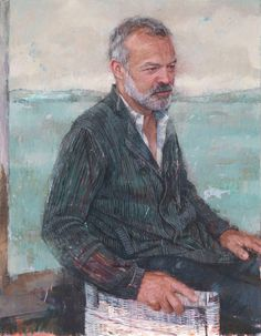 Graham Norton by Belfast-born artist Gareth Reid, winner of 'Sky Arts Portrait Artist of the Year 2017'.