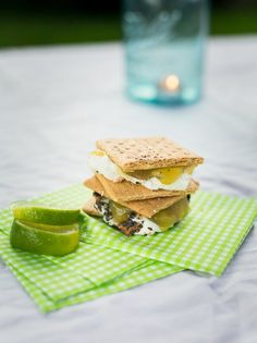 Party Recipe: Key Lime Pie S'mores Recipes from The Kitchn ~ Graham Crackers, Lime Curd, and Marshmallows