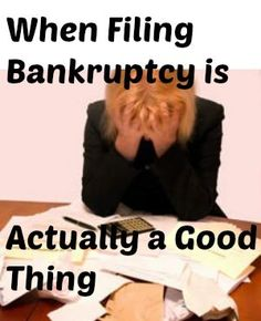 Know when to use filing bankruptcy as a way out of your debt and a way back on your feet! How to file bankruptcy and what to do after. Debt Consolidation, Budgeting Money, Debt Payoff, Debt Free, Filing, Money Management, Personal Finance, Personal Space, Making Ideas