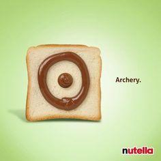 ¡Buenos días! :) #Anuncio de #Publicidad de Nutella para los Juegos Olímpicos. #Olympics #Advertising #Archery #Creativity #Creatividad