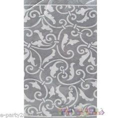 SILVER SCROLL GUEST NAPKINs
